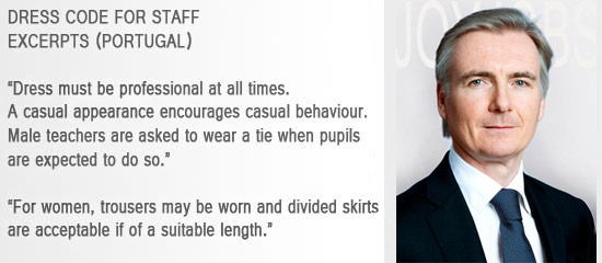 portugal dress code,  teachers